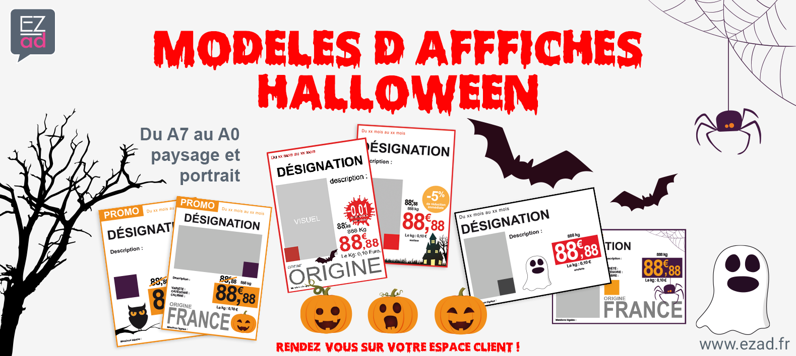 Pack d'affiches Halloween !