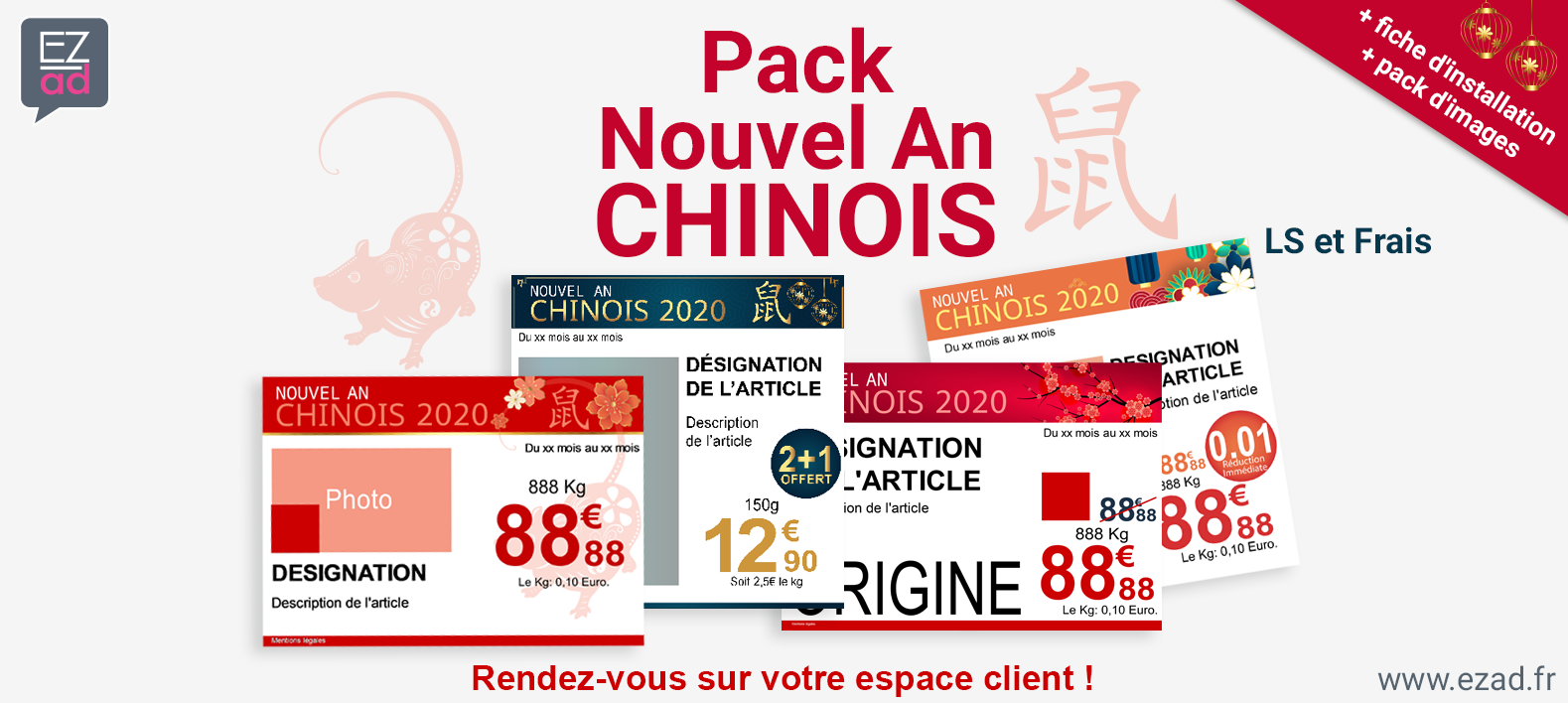 Pack d'affiches Nouvel An chinois