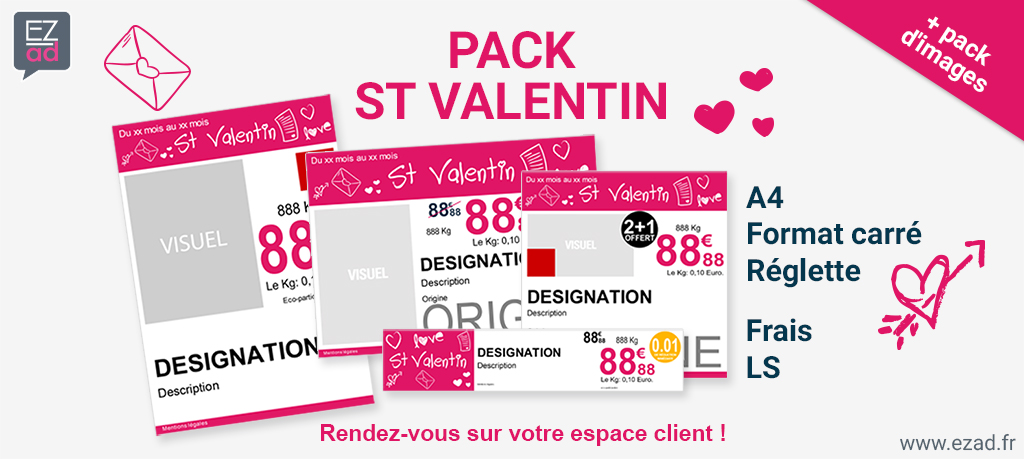 Pack affiches St Valentin