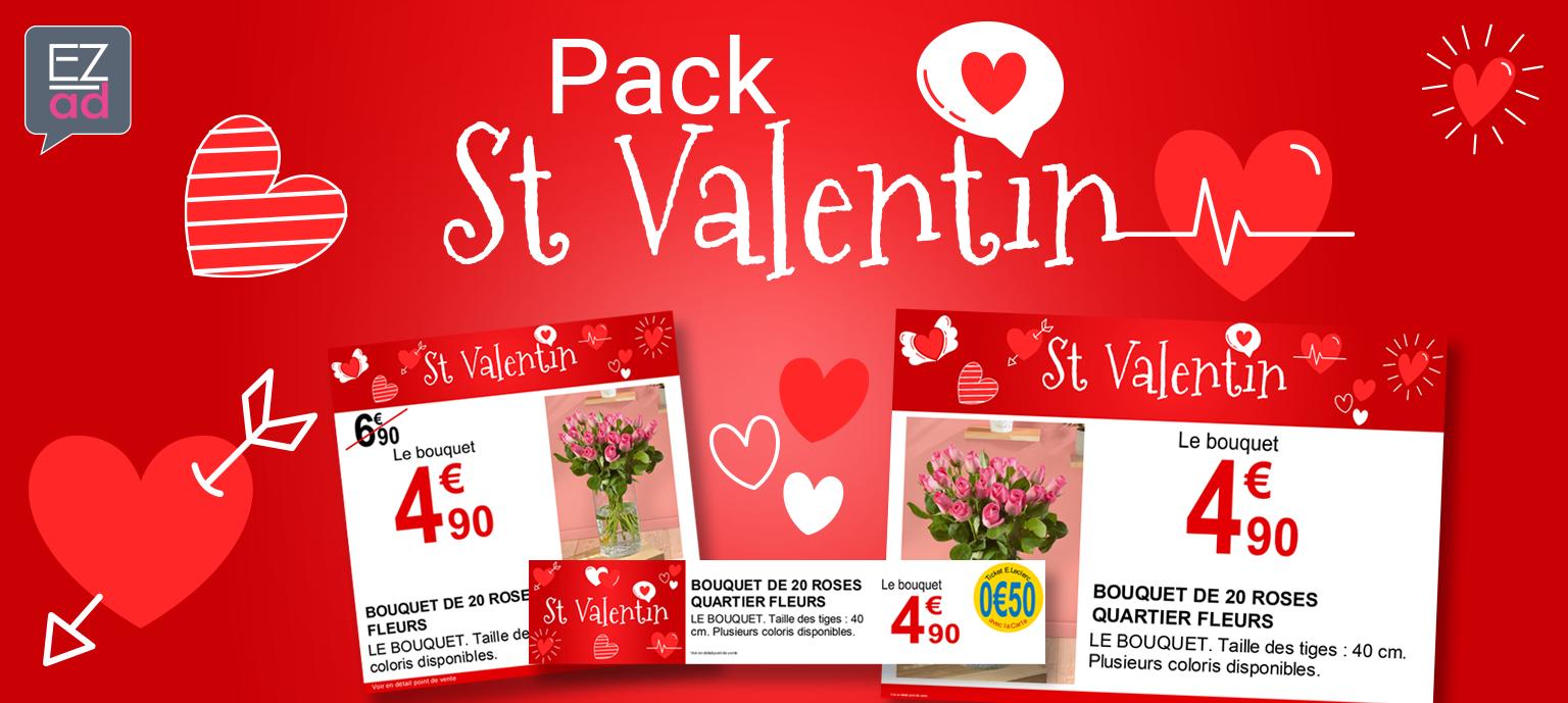 Modèles d'affiches St Valentin