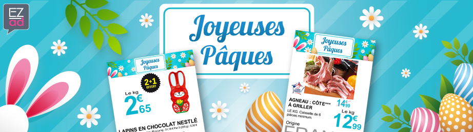 Modèles d'affiches sur le thème de Pâques